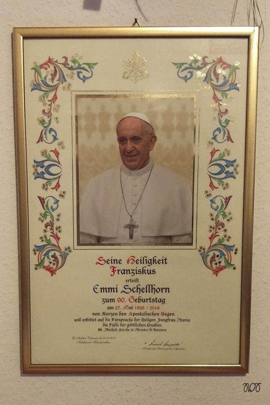 Geburtstagssegen von Papst Franziskus