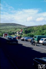 Isle of Man 1974 - Laxey - Strasse zum Laxey Wheel