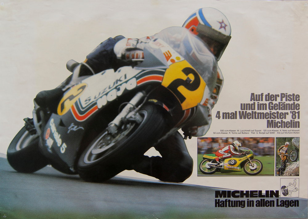 Poster Michelin 4x Weltmeister 1981